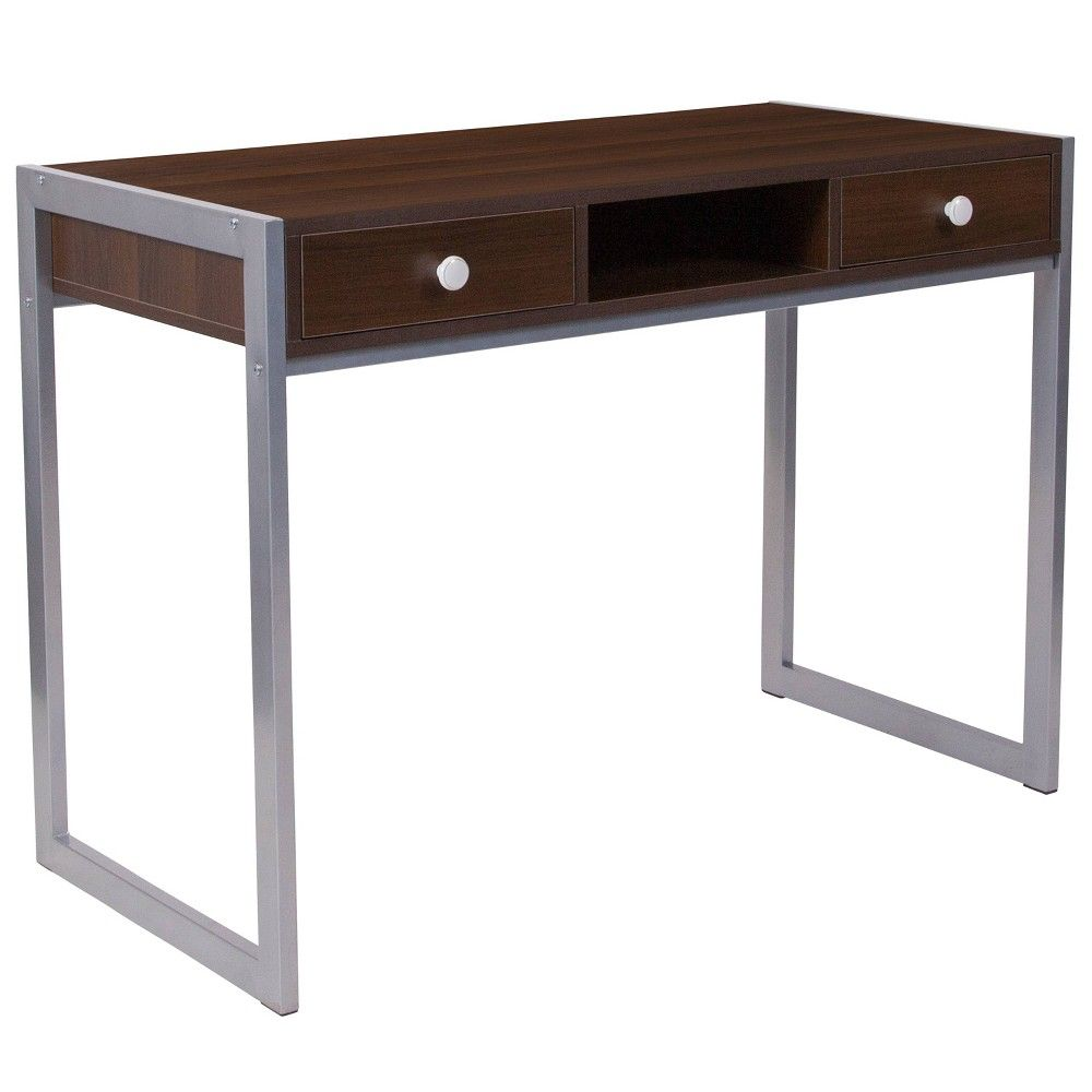 Bradley Computer Desk Brown Riverstone Furniture Wood Computer