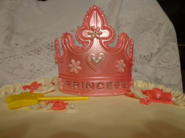 Gumpaste Princess Tiara Crown Cake Topper Decoration