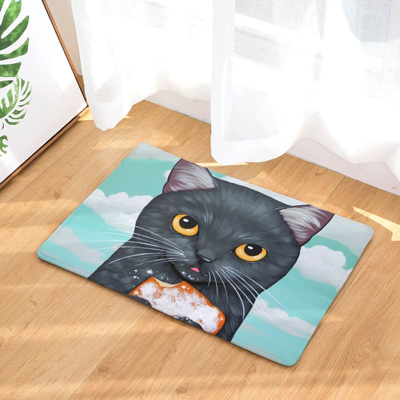 Cartoon Style Creative Cute Cat Print Carpets Antislip
