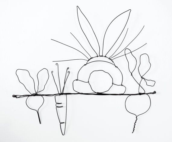 Figuren Aus Draht Selber Machen bunny in the garden wire sculpture epistyle draht papier