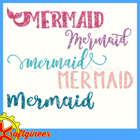 Mermaid Word Little Mermaid Font Mermaid Font