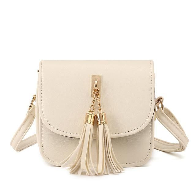 Candy Color Tassel Messenger Bag
