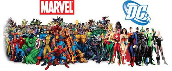 Image result for dc and marvel characters