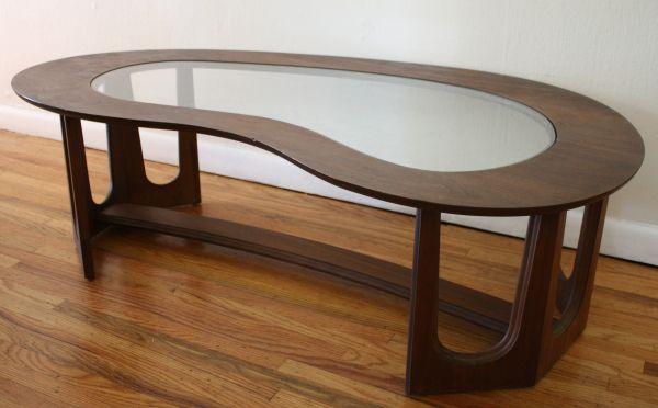 Vintage Lane Kidney Shaped Boomerang Walnut And Glass Coffee Table Glass Coffee Table Coffee Table Decorating Coffee Tables