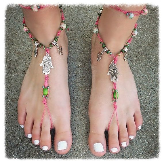 5961fbdd23e8c NEW Handmade Kiwi Hemp Barefoot Sandals Hand by HippiesHopeShop ...