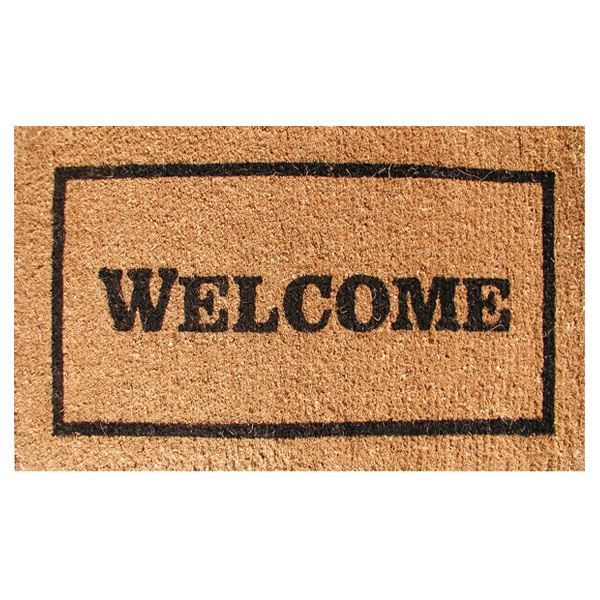 Classic Welcome Mat Bambeco All Natural Welcome Mats Are Densely Woven From The Sustainable Coir Fiber Of Coconut She Door Mat Welcome Door Mats Welcome Mats