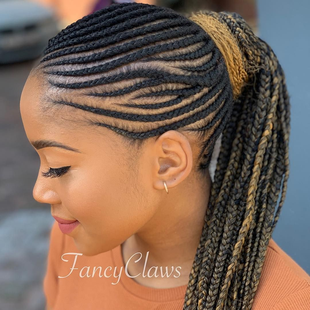 Fancyclaws On Instagram Hairstyle Done At Fancyclaws Please Contact Us For Bookings Prices Or Any Hair Styles Braided Ponytail Hairstyles Braided Hairstyles