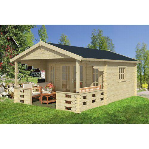 380 cm x 580 cm Gartenhaus Zain Garten Living Dach Rechteckig Braun Boden Mit Fußboden 18 mm Fundament Mit Fundament