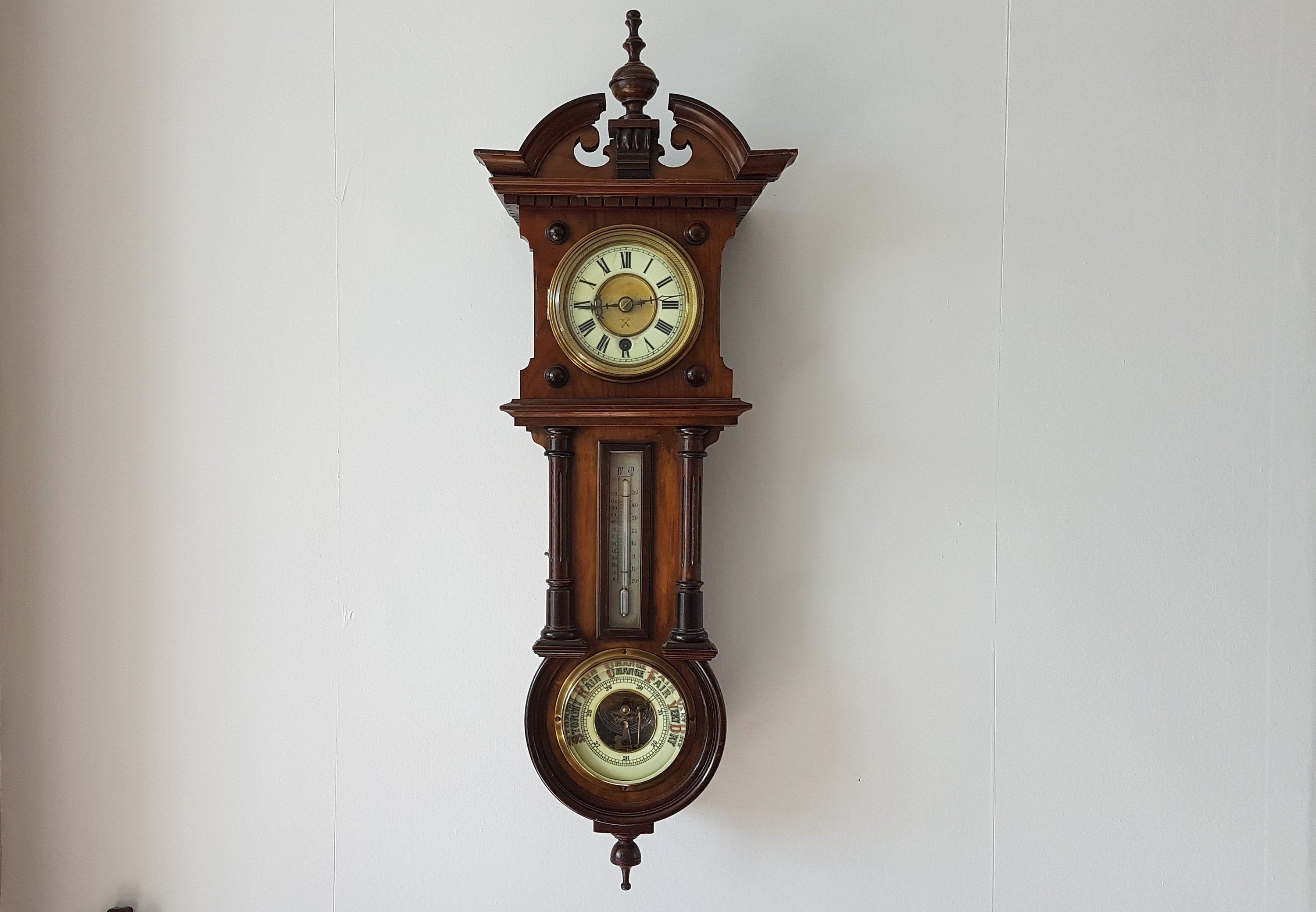 Antique Wall Clock Hac Wall Barometer Clock Victorian Wall Clock With Barometer And Thermometer Vintage Home Decor 2020 Victorian Wall Clocks Antique Wall Clock Vintage Home Decor