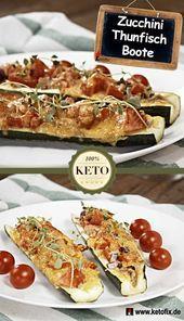 Keto Zucchini Boote mit Thunfisch Keto Zucchini Boote mit Thunfisch