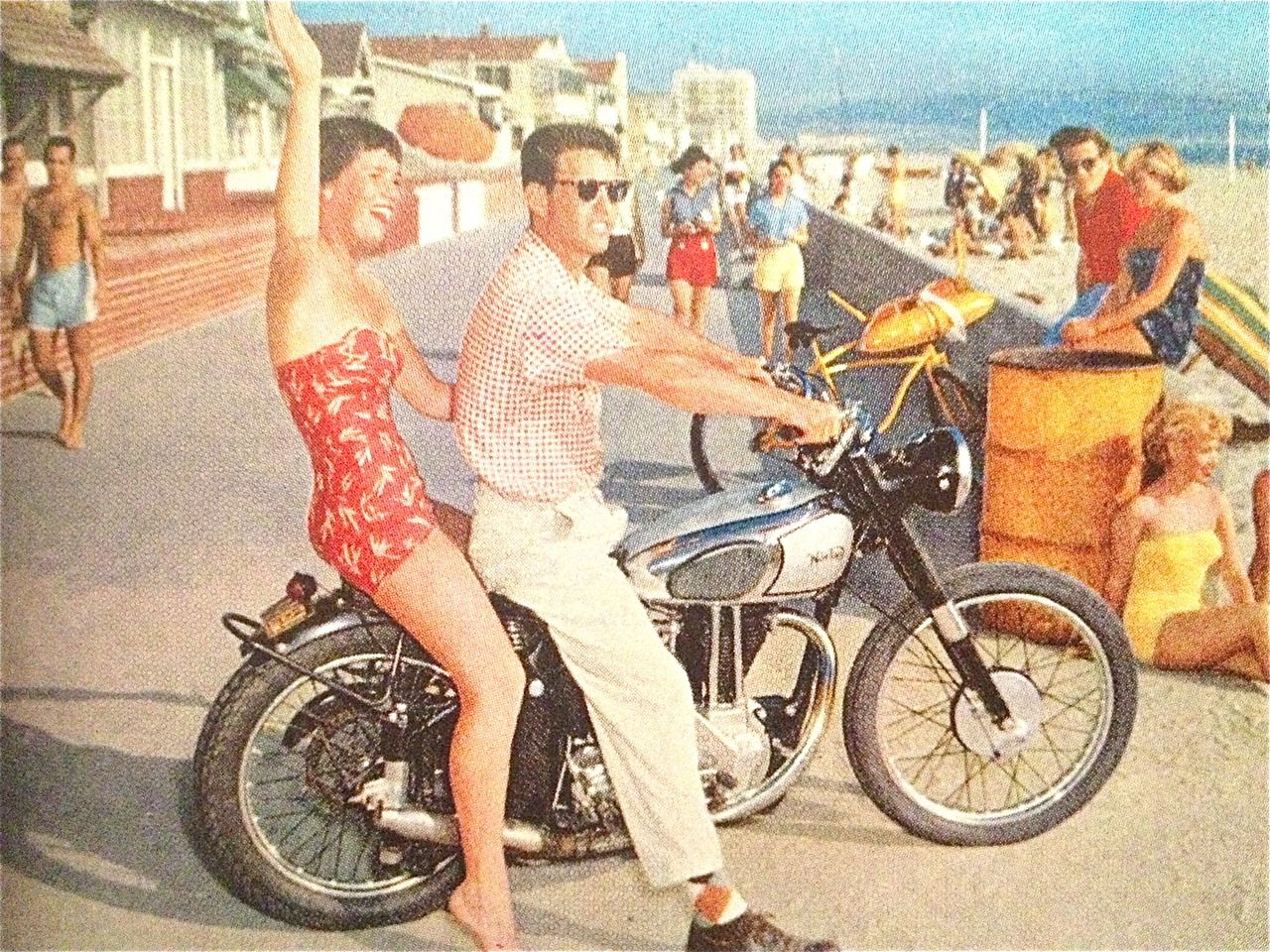 Beautiful Female Beach Fashions in Florida, 1950 | Vintage
