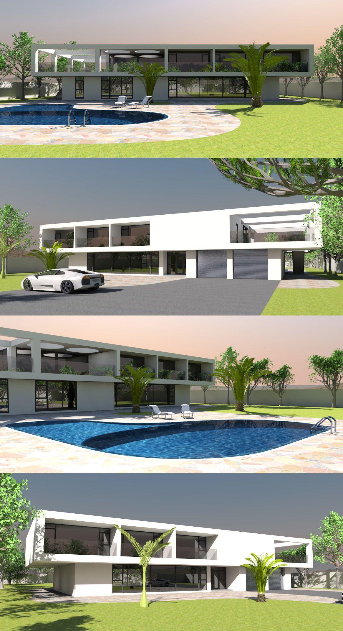 Modern Guard House Design: Elegant 6 Bed / Bath Contemporary