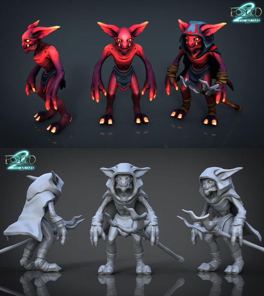 Forced2 Game Development Art Demon Imp FORCED2 By Skylarc88