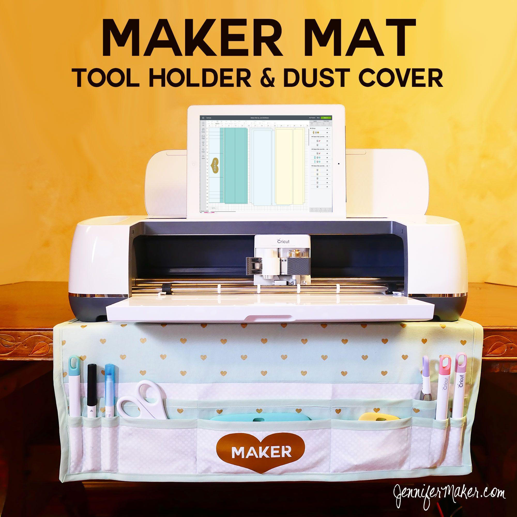 My Cricut Maker Mat Organizer Dust Cover In One Jennifer Maker Diy Cricut Cricut Craft Room Cricut