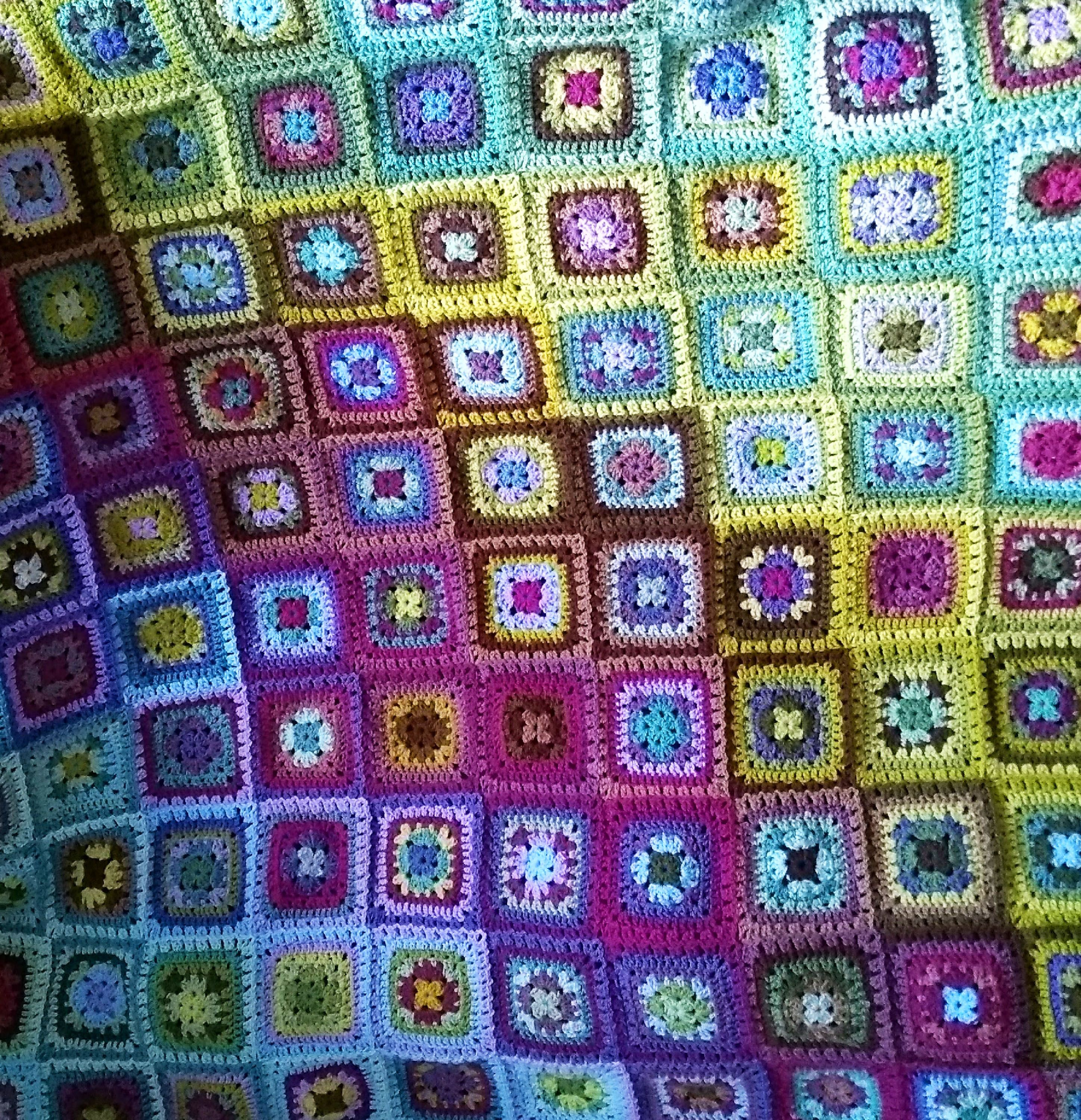 Moorland Harmony Blanket I Made This Using Attic 24 S Summer Harmony Pattern But Using The Moorland Pack Attic24 Attic 24 Crochet Crochet Projects Blanket