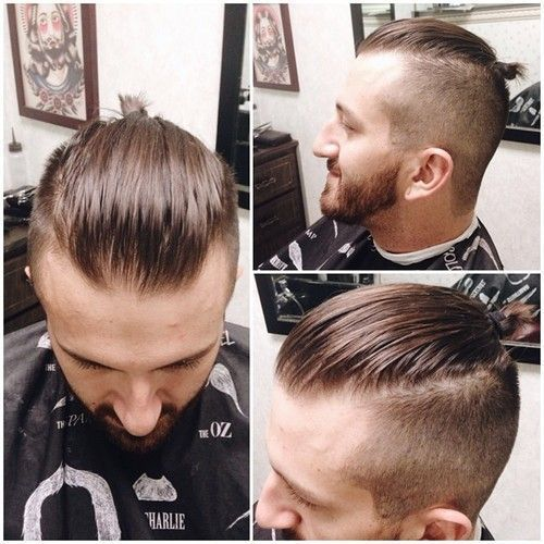 Few Ideal Ponytail With Short Hair For Stylish Men Mens Hairstyles Short Hair Styles Mens Hairstyles Undercut