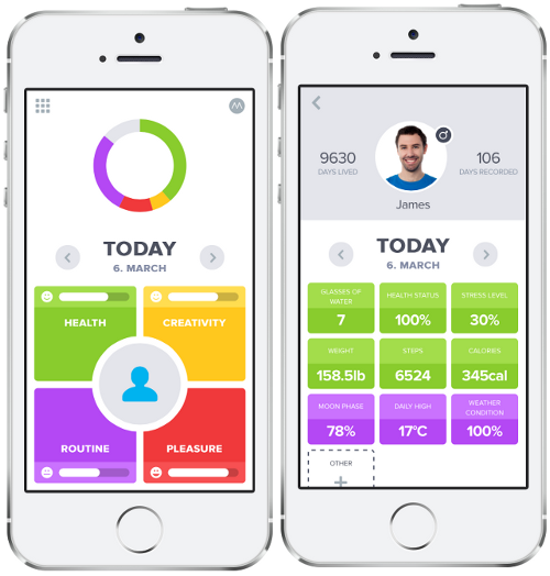 optimizeme track all your daily activities for a better life