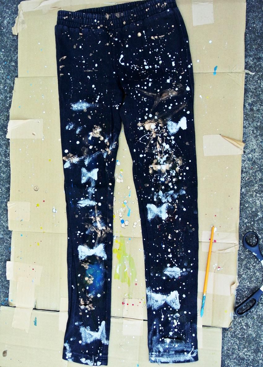 Upcycling Clothes Diy Ripped Jeans Diy Ripped Galaxy Jeans Diy Clothes Diy