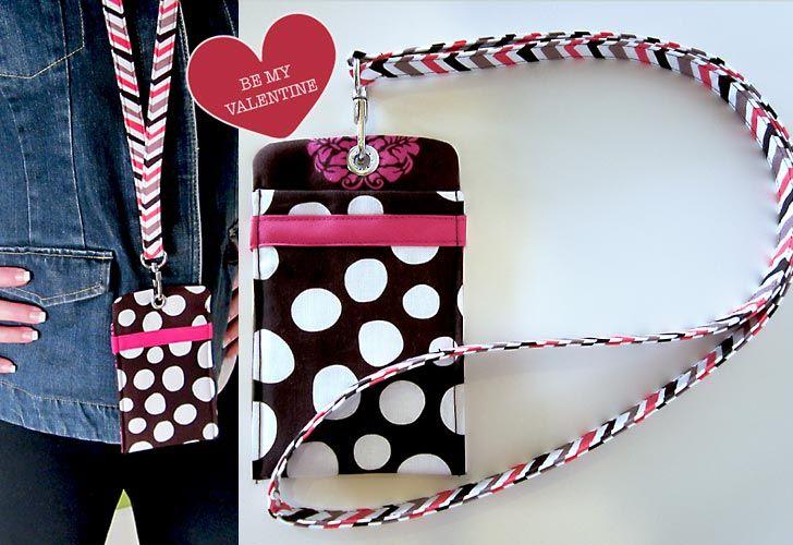 Tutorial For Making This Pocket Lanyard Diy Bags No Sew Trendy Sewing Sewing Bag