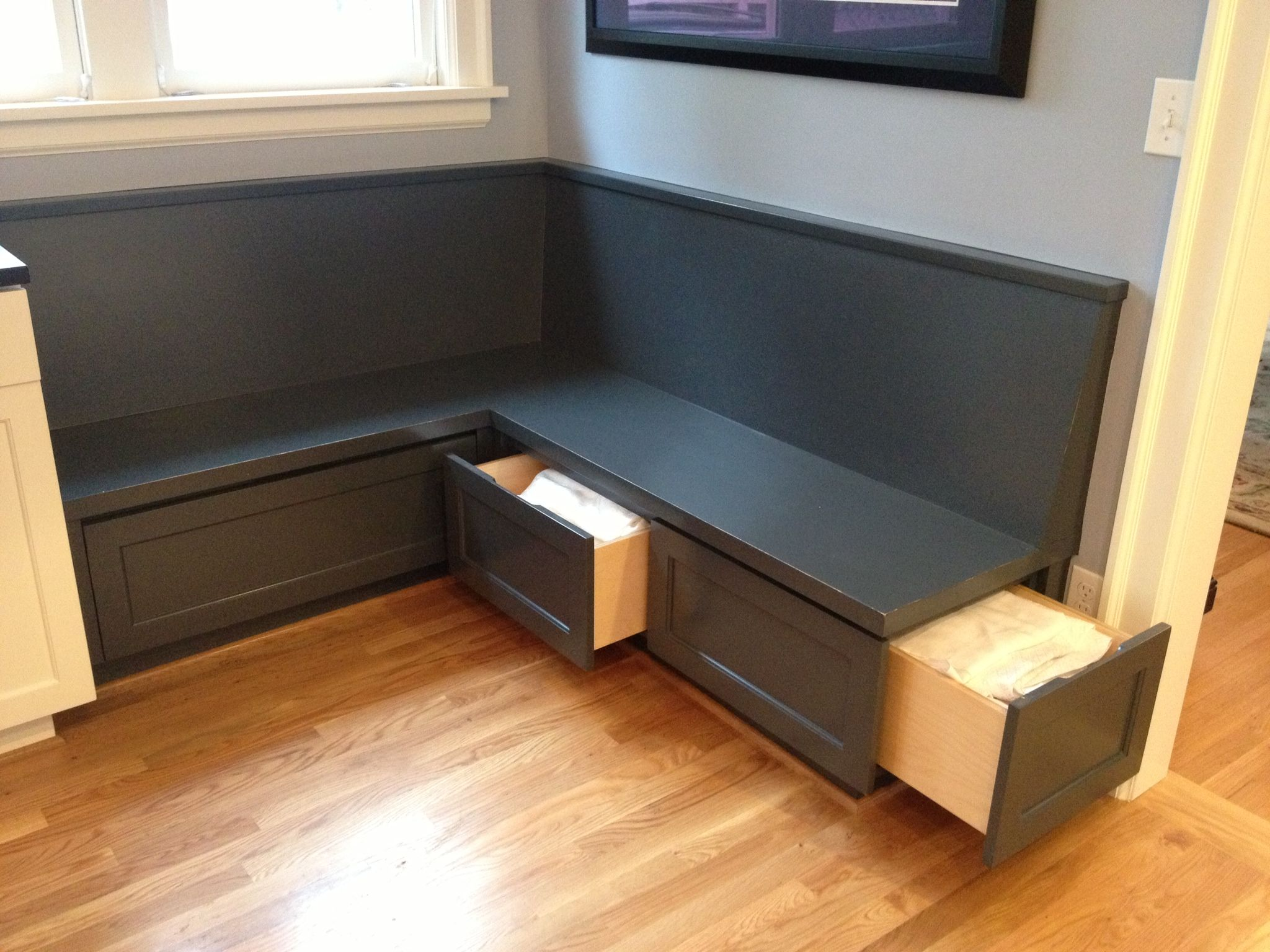 Banquette Bench With Storage 1920s Portland Home Custom Corner Banquette With Three Storage