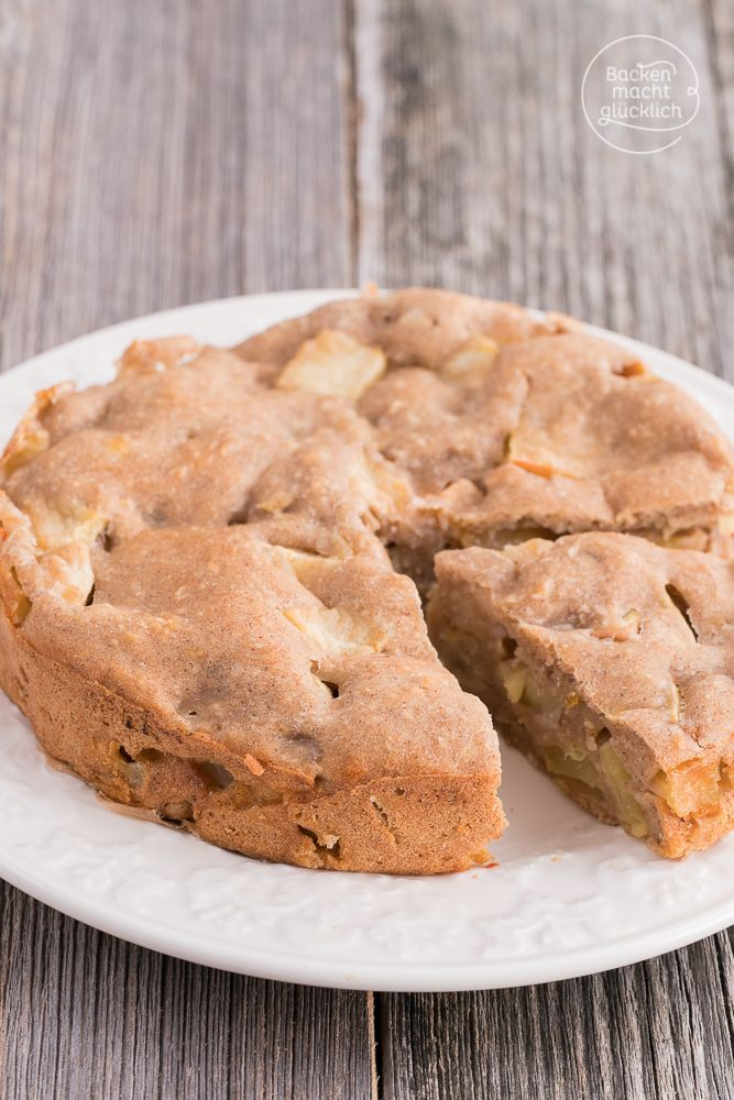 Apfelkuchen für Kinder (Vegan Bake Cheesecake)
