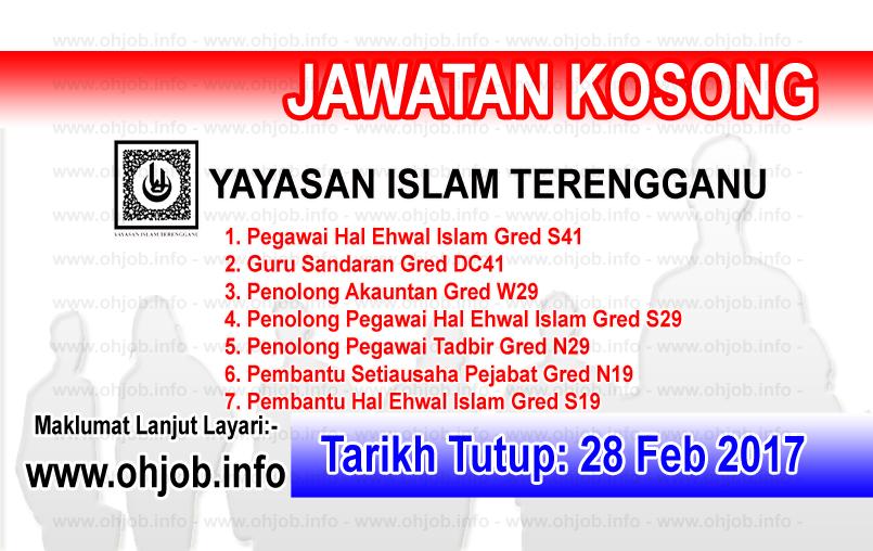 Jawatan Kosong Yit Yayasan Islam Terengganu 28 Februari 2017