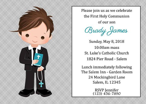 first communion invitation boy digital file boys first