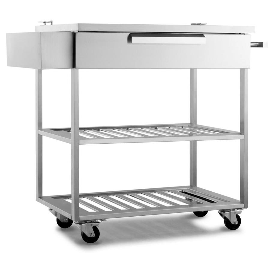 Newage Products Outdoor Kitchen Stainless Steel 32 In Bar Cart Lowes Com Outdoor Kitchen Cabinets Modular Outdoor Kitchens Outdoor Kitchen Bars