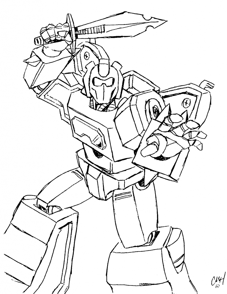Paint pages to color online - Transformers Coloring Pages Online
