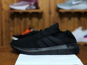 4f7b0ecf176a7 Mens Womens adidas Originals Swift Run Primeknit Black CQ2893 Running Shoes