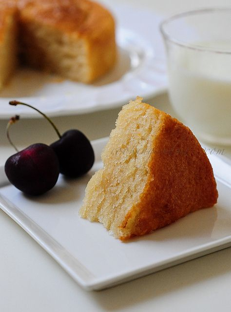 Eggless Vanilla Cake | Eggless Sponge Cake Recipe by Nags The Cook, via Flickr