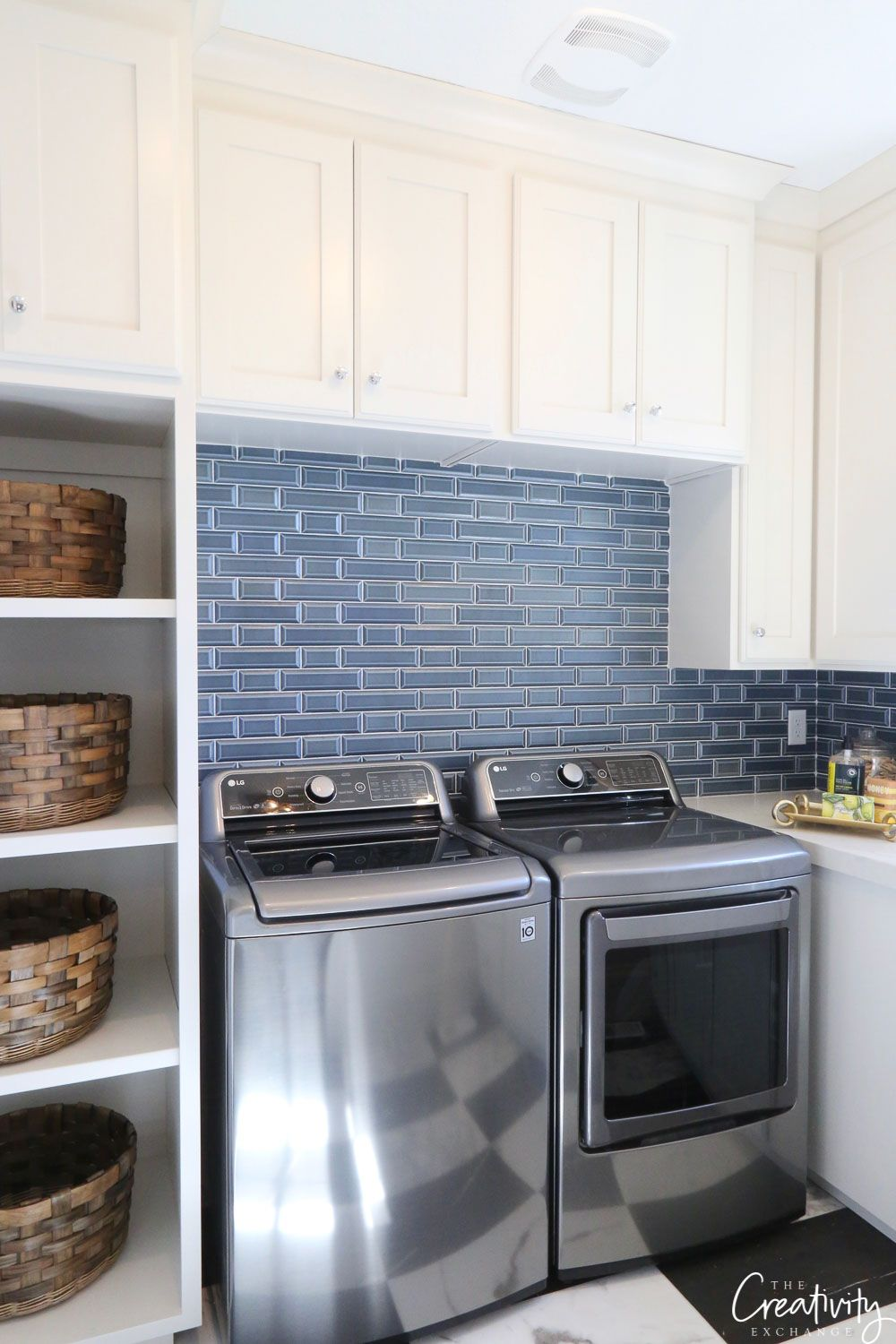 Navy Tile: Trend Alert  Retro kitchen, White laundry rooms, Navy