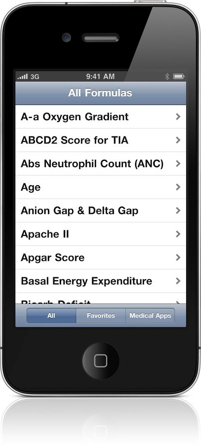 Medical Calculator Medical calculator for the iPhone