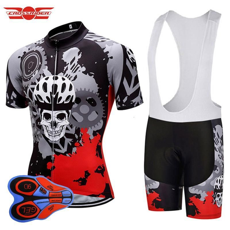 71a34ee3b Crossrider 2018 Mens Short Sleeve Cycling Jersey Mountain Bike Clothing  bicycle clothing Bib Short Set Quick-Dry Maillot Culotte.