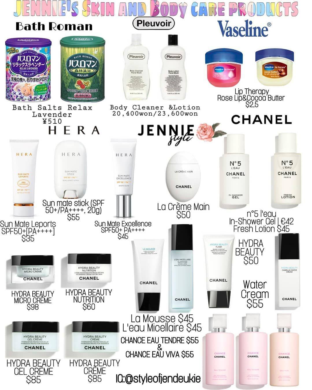 Jennie Kim Style On Instagram Jennie S Skin And Body Care Products Blackpink Blackpinkstyle Blackp Perawatan Kulit Perawatan Wajah Wajah