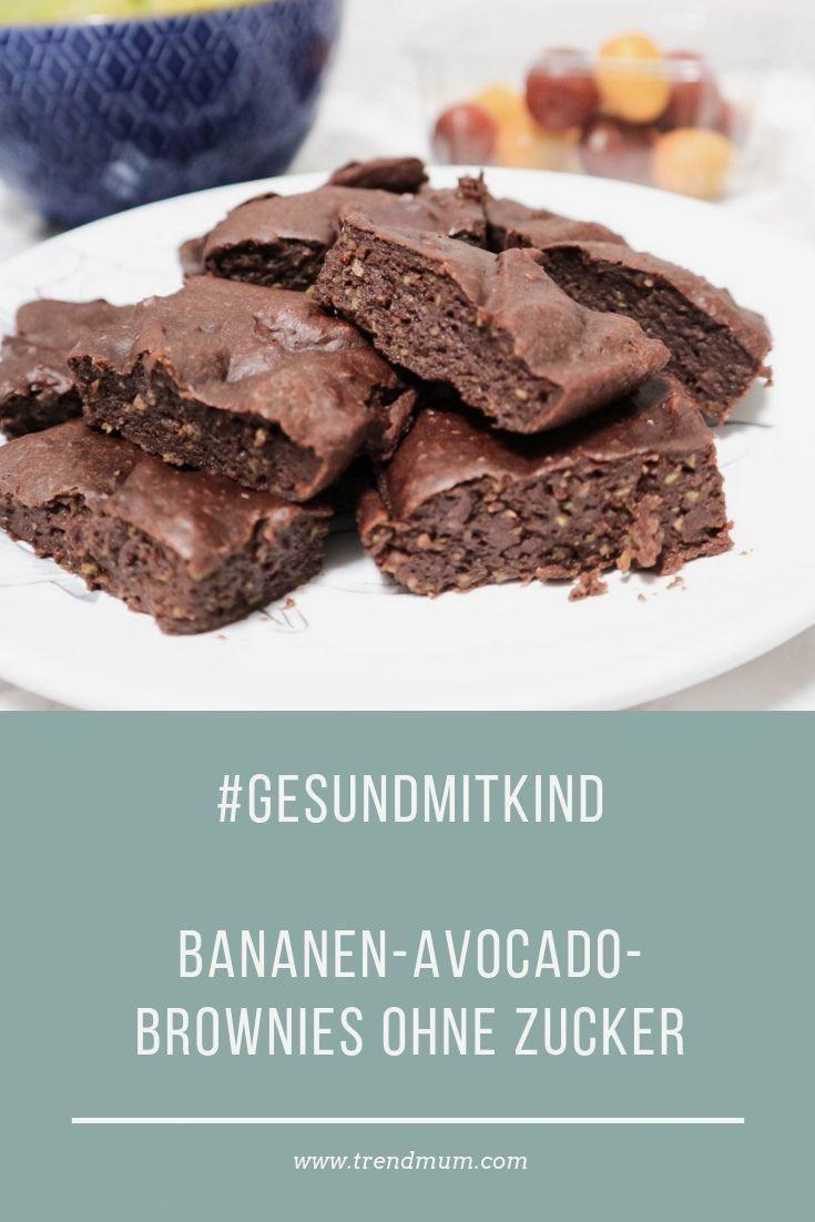 - Bananen Avocado Brownies - ohne Zucker
