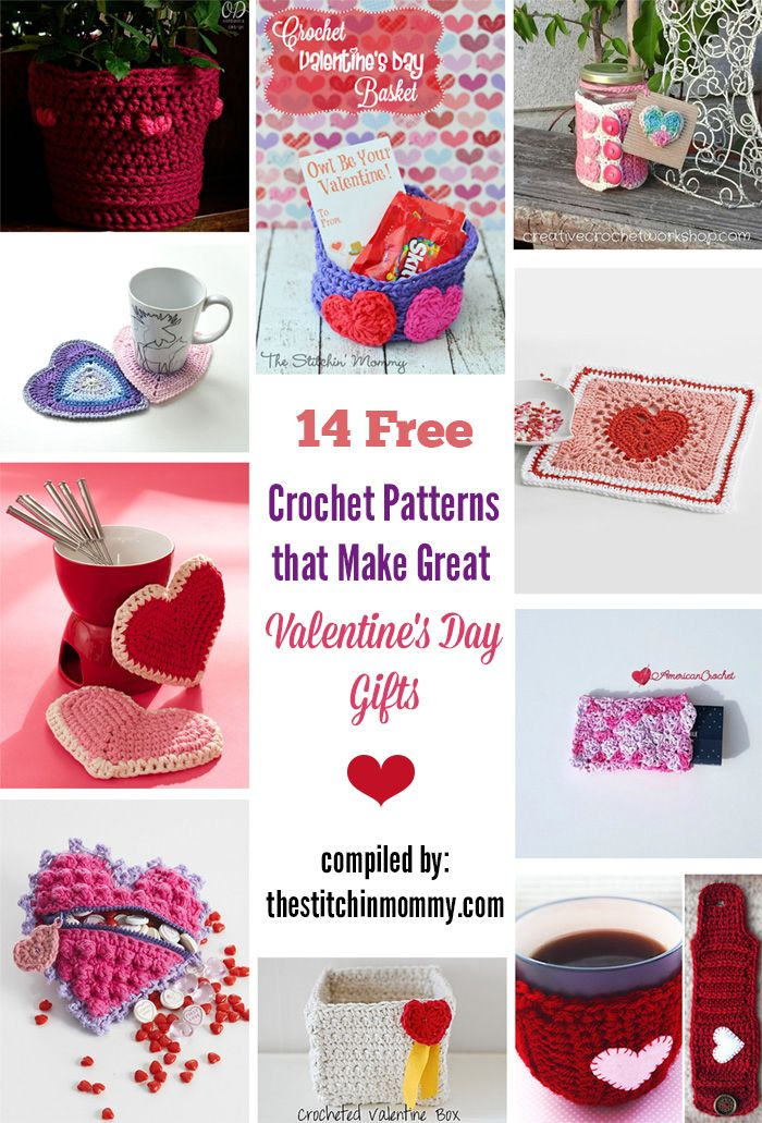 14 Free Crochet Patterns That Make Great Valentines Day Gifts