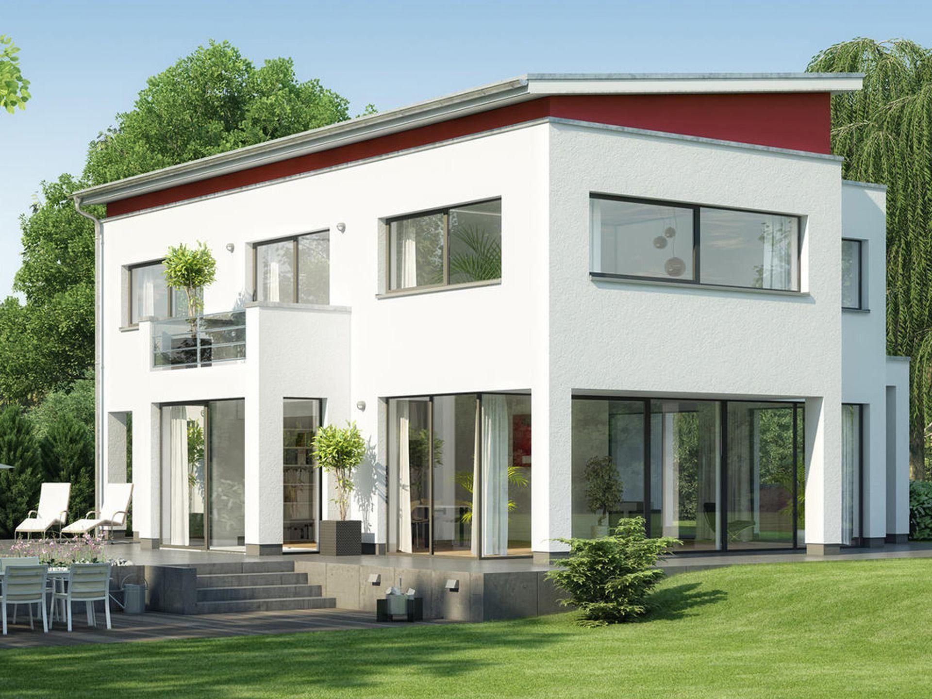 CIRRO PD. 400 • Pultdachhaus von Heinz von Heiden • Attraktives Massivhaus mit zahlreichen architektonischen Highlights und über 244 qm Wohnfläche • Jetzt bei Musterhaus.net informieren!