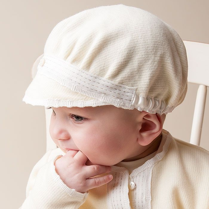 Baby Boy Cotton Hat - Luke Christening   Baptism Collection ... 037e932a1c9