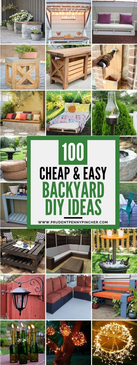 100 Cheap and Easy DIY Backyard Ideas DIY Projects Pinterest