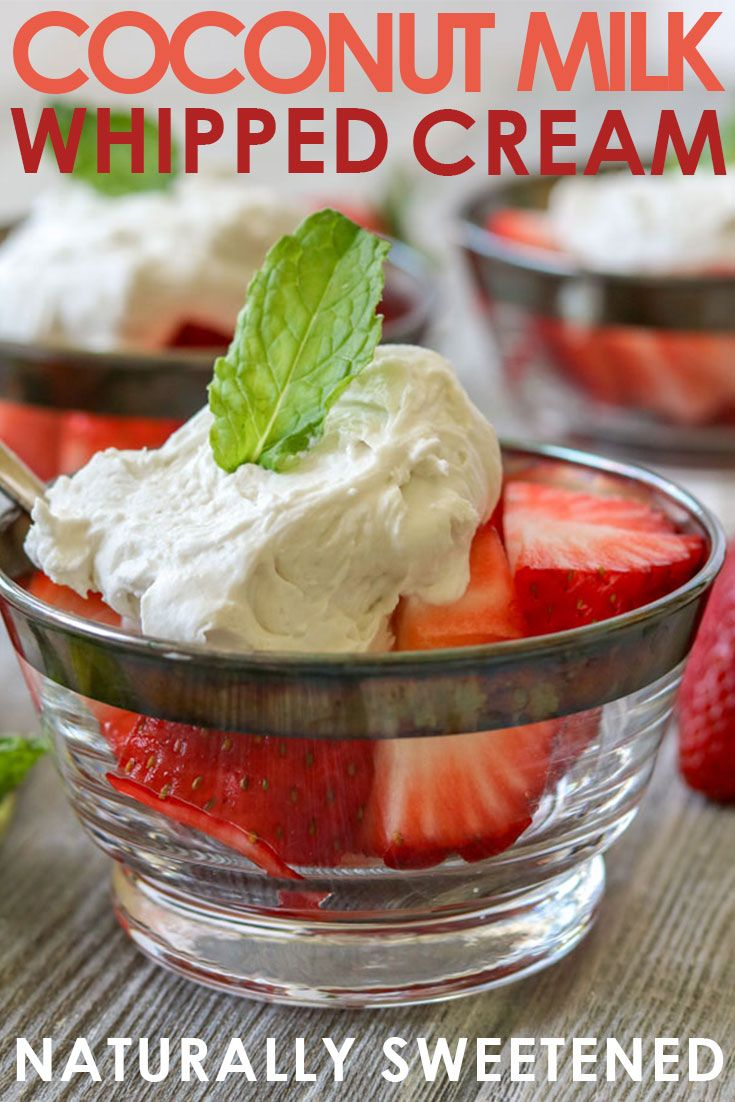 How to make coconut milk whipped cream Recipe Paleo