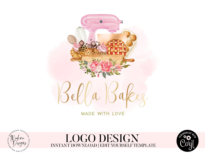 Baking logo design cake logo logo design logo premade