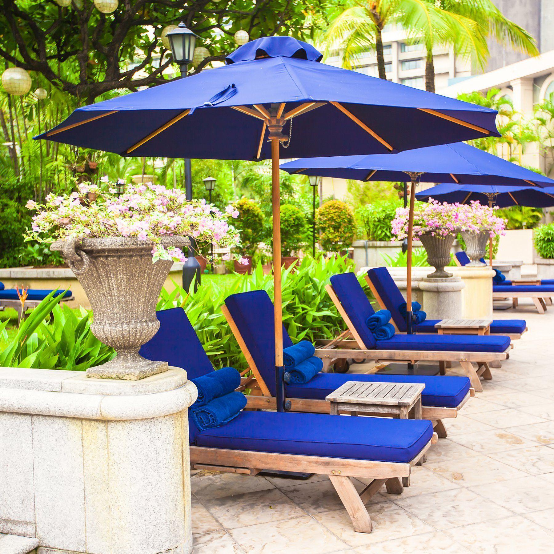 Outdoor Umbrella Galtech 9 Ft Commercial Grade Patio Umbrella