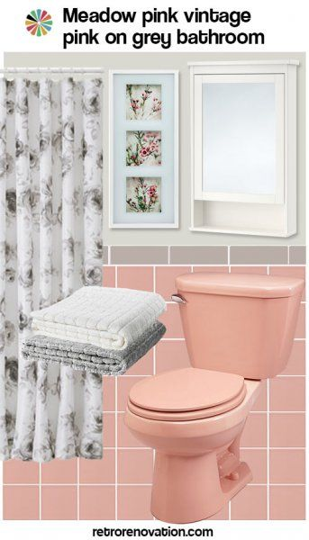 99 Ideas To Decorate A Pink Bathroom Complete Slide Show Pink Bathroom Retro Pink Bathroom Pink Bathroom Tiles
