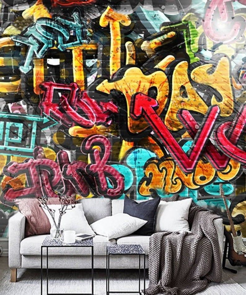 Wallpaper Graffiti Street Art Wall Art Peel And Stick Wall Mural Large Photo Self Adhesive Graffiti Street Art Wall Murals