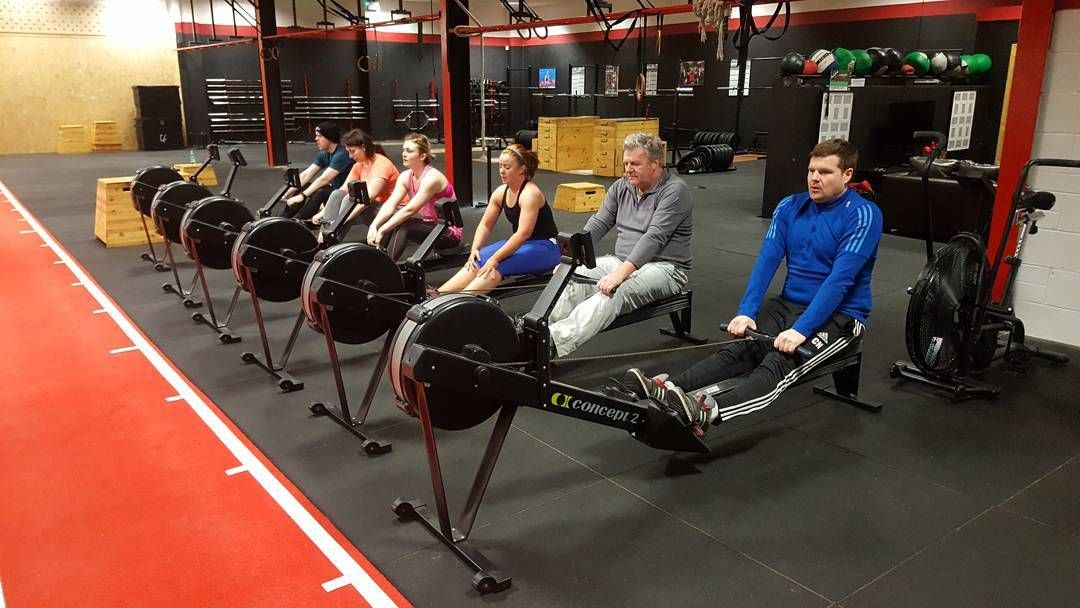 The 7am Crew Patiently Waiting For Their Tabata Rowing Intervals To Begin This Morning Savage Effort From The 6am And 7am Crews Teamcsp G Gym Rowing Tabata