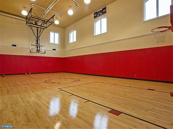 March Madness 16 Homes For Sale With Basketball Courts Outdoor Basketball Court Basketball Court Indoor Basketball Court