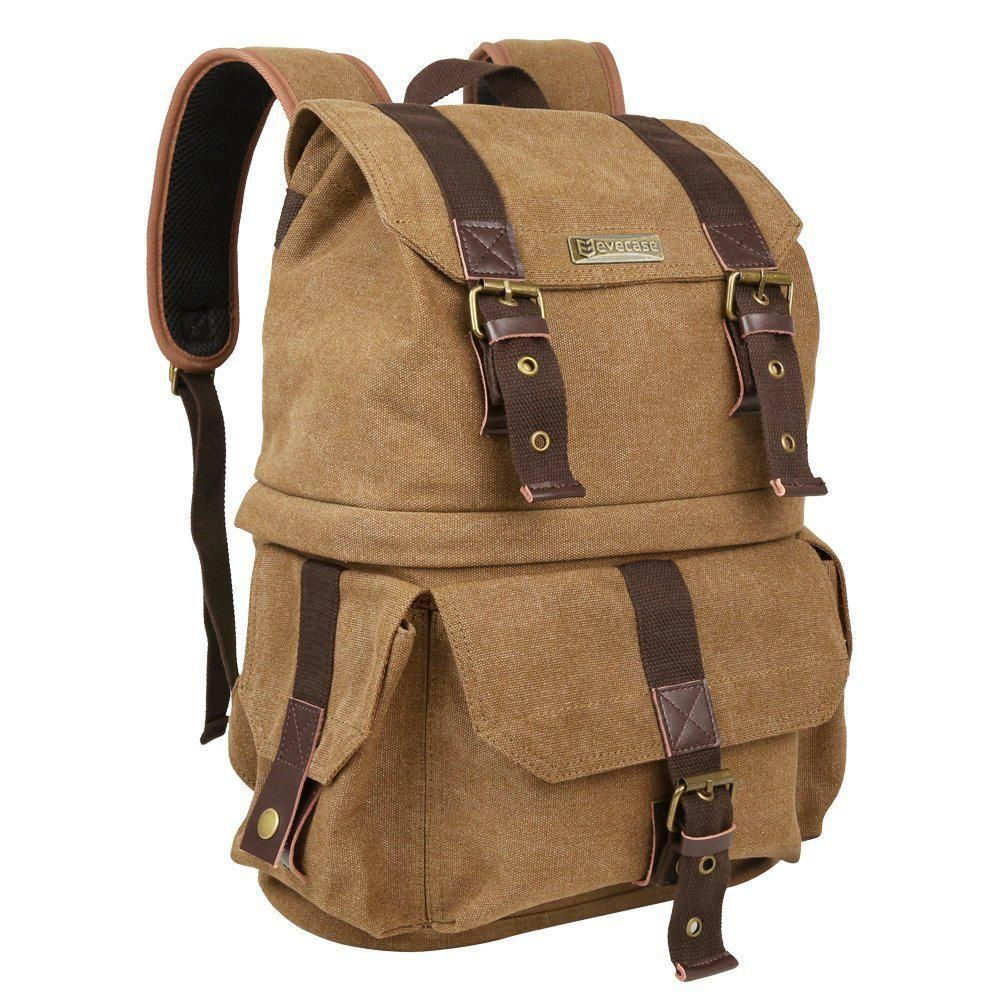 Canvas Dslr Camera Backpack