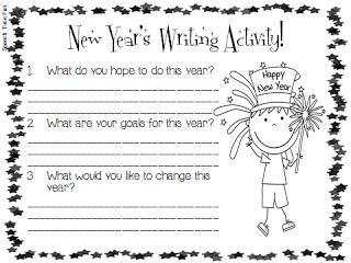 Speech Time Fun: New Year's Writing Activity! (FREEBIE) Pinned by SOS Inc. Resources http://pinterest.com/sostherapy.