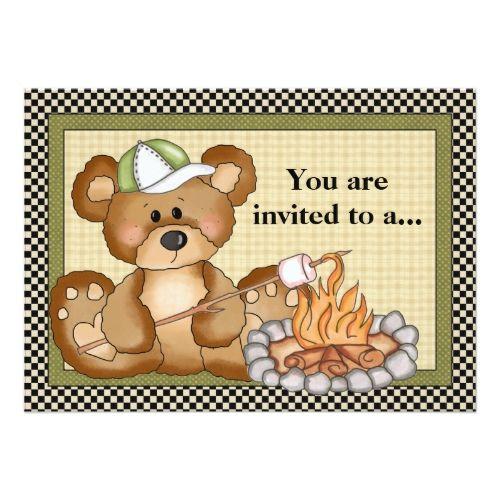 Camping Bear Family Reunion Invitation  Family Reunion